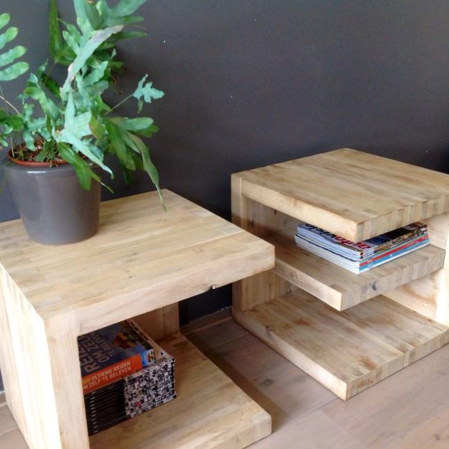Set van bijzettafels van WoodStack Breda